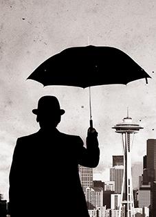 黒い傘の紳士web